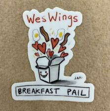 WesWings Pail Sticker Wesleyan University