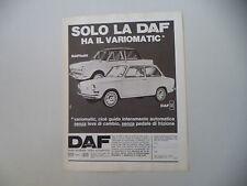advertising Pubblicità 1967 DAF 44/DAFFODIL