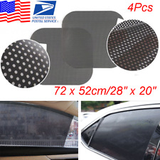 4x Reusable Car Window Sunvisior Washable Sunshade Cover PVC Static Cling Screen