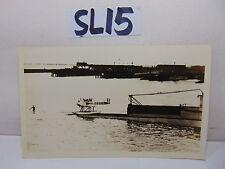 VINTAGE 1920'S US NAVY PICTURE POSTCARD SUBMARINE V-BOAT & SERVATION AIRPLANE