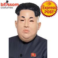 AC735 Political Kim Jong Un Costume Korea President Dictator Overhead Mask Face