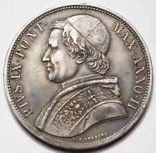 ITALIE - ETATS DE L'EGLISE : RARE SCUDO 1847-IIR (12.000 ex.)