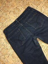 Calvin Klein Brand Women's Designer Blue Jeans Size 6 Straight Leg Pants Casual