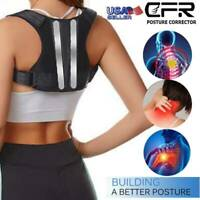 Adjustable Posture Corrector Upper Back Shoulder Support Strap Brace Men Women