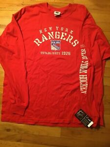 New York Rangers Hockey Long Sleeve Shirt XXL