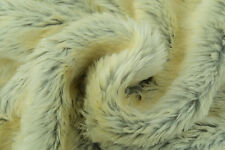 D180 DELUXE SIBERIAN CREAM WOLF FAUX FUR REALISTIC STUNING QUALITY MADE IN ITALY