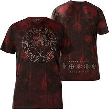 AFFLICTION T-Shirt Crushed Weinrot T-Shirts