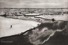 1934 Vintage 11x14 ~ ANTARCTICA ~ Penguin Ross Sea Ice Ocean Seascape Photo Art