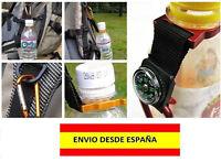SOPORTE GIMNASIO BOTELLA DE AGUA CLIP GANCHO MOCHILA REGIMEN CAMPING BRUJULA POP