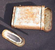 Pila torcia d'epoca antica anni 40-50 in latta uso con batteria piatta da 4,5 v
