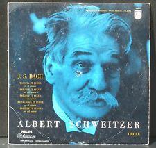 Bach Albert Schweitzer, orgue de Gunsbach LP EX, CV VG++