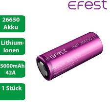 1 x Efest IMR 26650 Lithium Ionen Akku 42A 5000mAh lose 3,7 V