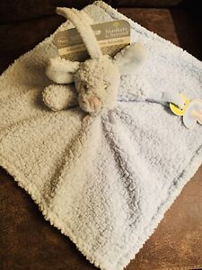 SECURITY BLANKET BEYOND PUPPY DOG BLUE SHERPA Seat Ties PACI HOLDER SQUARE NWT