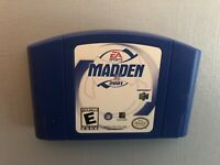 AUTHENTIC Nintendo 64 N64 Madden 2001 Game Blue Cartridge Only Tested & Working