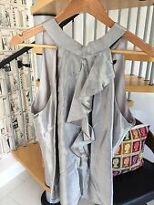 Gorgeous Coast Meredith Womens Silver Blouse Top Size 16 uk RRP £75
