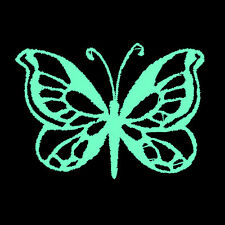 """Butterfly Neon 2.8 x 2"""" - Embroidered Patch Sew on Night Glow in the Dark"""