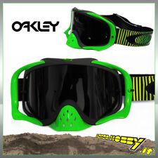 MASCHERA OCCHIALE CROSS ENDURO ATV OAKLEY CROWBAR MX SHOCKWAKE GREEN YELLOW