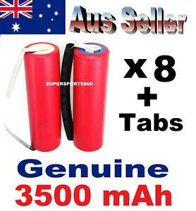 8x TABBED Panasonic NCR 18650GA 3500mAh tabs Lithium Ion rechargeable batteries