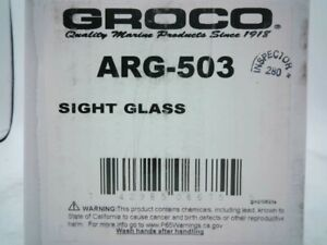"""Groco ARG503 Cylinder Sight Glass With Drain Plug For Arg 500 3-1/2""""x4"""" LC - New"""