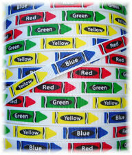 3/8 Bitty Classic Crayon School Color Crayola Grosgrain Ribbon 4 Hairbow Bow 5Yd