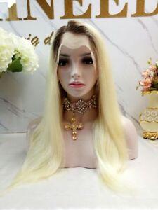 "Stock Full Lace Glueless European #4/613 Ombre Str. Human Hair Wig 20"" 150% Dens"