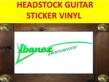 IBANE UNIVERSE GREEN SEVEN STRINGS STICKER VINYL VISIT OUR STORE WITH + MODELS
