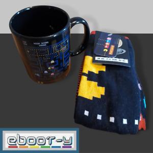 New with Tags - 2 Pairs Official Pac Man Socks [7-11UK/41-45EUR] and Mug Combo