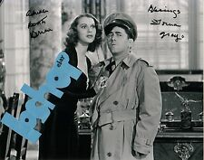 Rare THREE STOOGES 3 costar LORNA GRAY signed autograph photo with MOE HOWARD