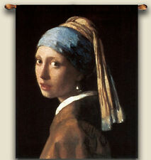 GIRL WITH PEARL EARRING by Vermeer Tapestry Wall hanging