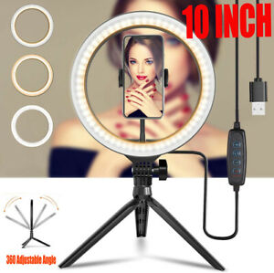 """10"""" Phone Selfie LED Ring Light with Stand For Youtube Tiktok Makeup Video Live"""