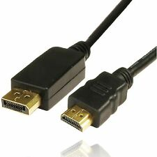 DISPLAY PORT DP TO HDMI MALE LCD PC HD TV LAPTOP AV CABLE ADAPTOR 1M 2M 3M 5M