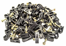 1500 Pcs Black Dual Mounting Flex Grip Clips with Screw RG6 RG59 Coax Cable