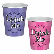 8 ALICE IN WONDERLAND Paper Party DRINK ME Beverage Cups