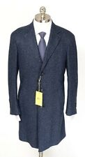 CANALI 1934 KEI Blue Melange Wool Unconstructed 3Btn Coat Jacket 56 46 2XL NWT