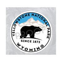 "Yellowstone National Park Wyoming Sticker Decal 3"" x 3"" Nature Hiking Bear"
