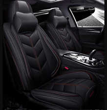 Fully Covered Black Leather Car Seat Covers Fits Lancer Outlander ASX Triton