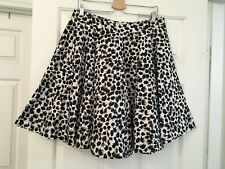 Womens Lindy Bop Snow Leopard Circle Skirt US XL Nwot Rockabilly Pin Up VLV Nice