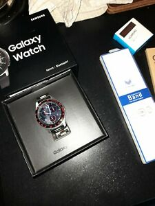 Samsung galaxy watch  46mm - silver few months old with extras