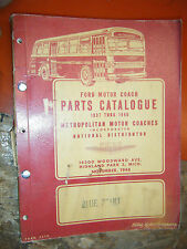 1937-48 FORD METROPOLITAN MOTOR COACH ORIGINAL FACTORY PARTS MANUAL CATALOG