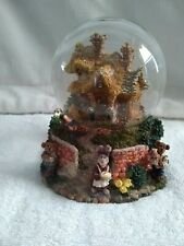 Boyd's Bearly-Built Villages Bailey's Cozy Cottage Musical/ Lighted WaterGlobe