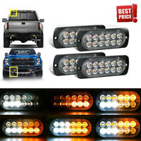 High Power 4 x12 LED Amber Truck Car Emergency Beacon Warning Hazard Flash Light