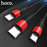 For iPhone Type C Charger Cable 3 in 1 USB Cable for Samsung Mobile Phone Charge