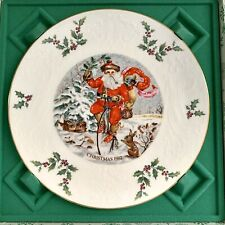Royal Doulton Christmas Plate 1982 Santa Claus & Bunnies Original Box
