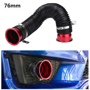 Universal 76mm Flexible Car Engine Cold Air Intake Hose Inlet Ducting Tube Pipe