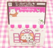 Animal House Mini Letter Set / Japan DAISO Stationery Bear Cat Pig Rabbit