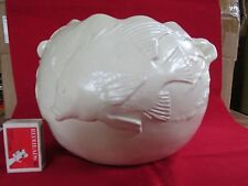 Large Castle Harris Fish Decorated Jardiniere Australian Pottery Impressive