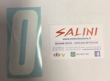 Numero Numeri adesivi gara moto cross ZERO Bianco - 10 cm