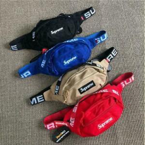 NEW Supreme Crossbody SS18 Shoulder Bag Fanny Pack Waist Bag Black