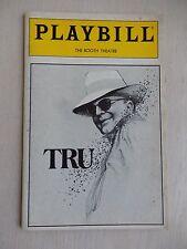 July 1990 - Booth Theatre Playbill - Tru - Robert Morse