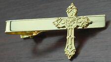 Holy Cross Tie Bar Fix Clip Religious Christian Symbol Clasp
